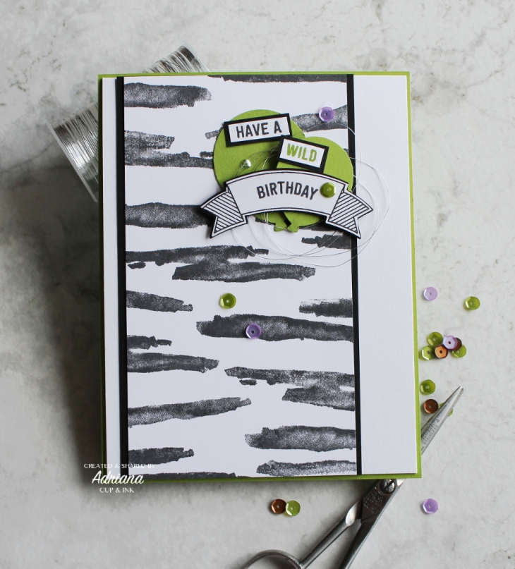 SRC Waterfront zebra birthday card