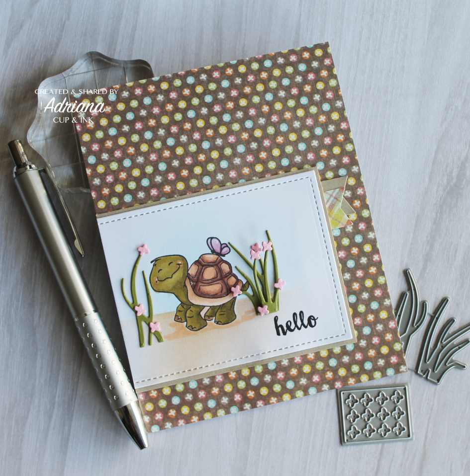 ai turtle hello greeting card
