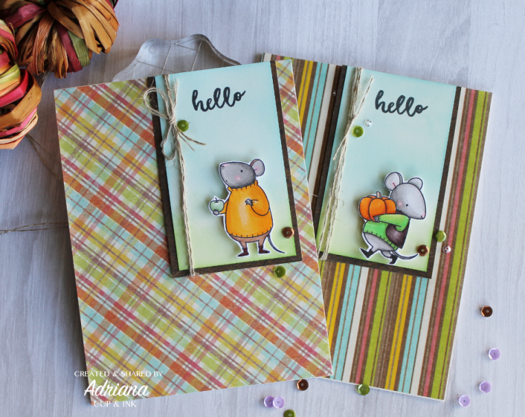 MFT Harvest Mouse hello greeting card