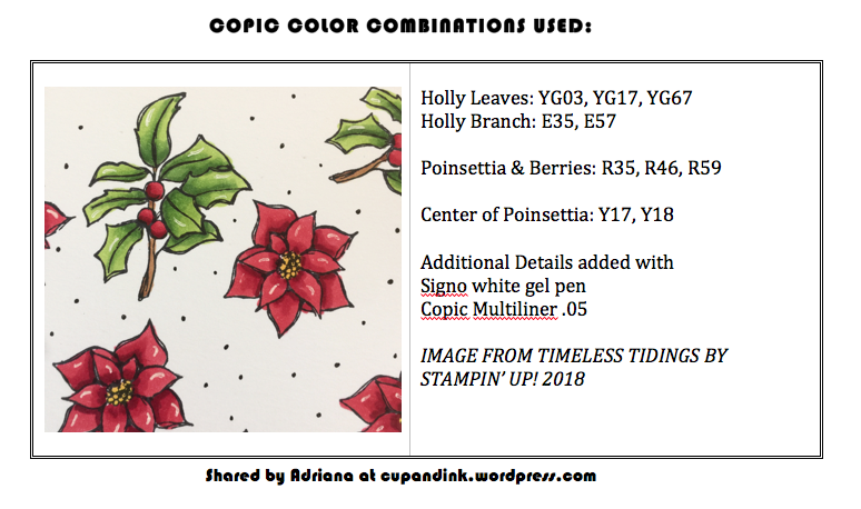 stampin up poinsettia and holly
