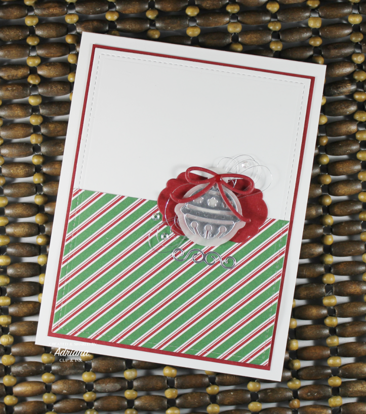 Christmas Card featuring Bells Are Ringing die cut