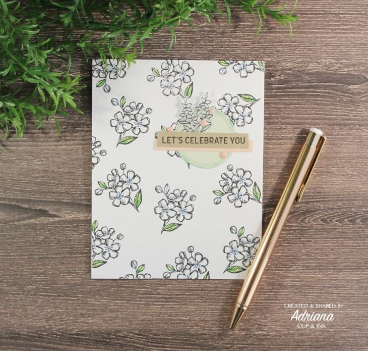 Stampin' Up! floral image repeat stamping