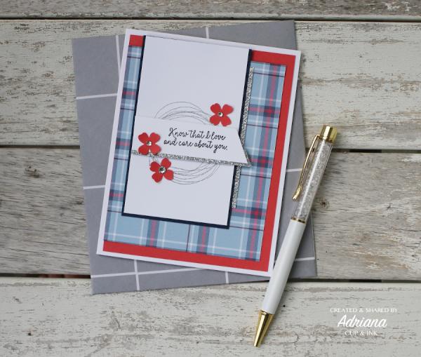Stampin' Up! Comfort & Hope greeting card, Adriana Benitez cupandink.com