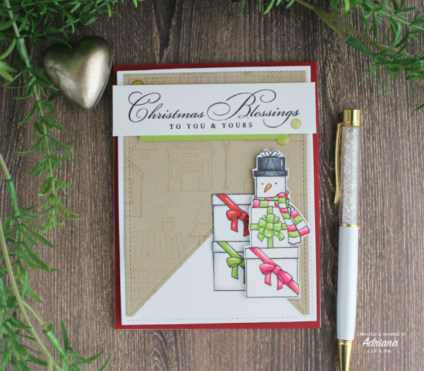 Stampin' Up! Coming Home and Wrapped in Christmas stamp sets, Christmas Card, Adriana B, cupandink.com