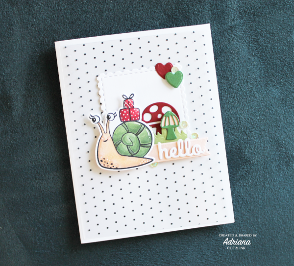 hello greeting card, images from Snailed it (Stampin' Up!), Adriana- cupandink.com