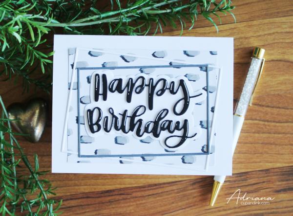 birthday card MFT handlettered birthday, cards for guys Adriana cupandink.wordpress.com