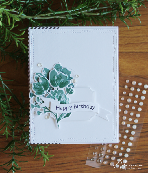 Birthday greeting card, Stampin' Up! Art Gallery stamp set, created by Adriana at cupandink.wordpress.com