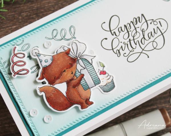 sending sweet celebration wishes slimline birthday card