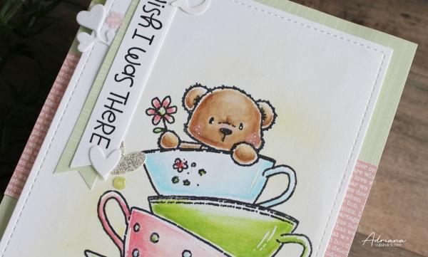 wish i was there greeting card, Adriana cupandink.com